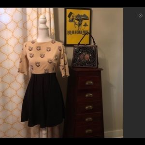 Modcloth Tigers in Bow Ties Dress